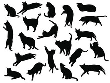 Set Vector Silhouettes Of The ...