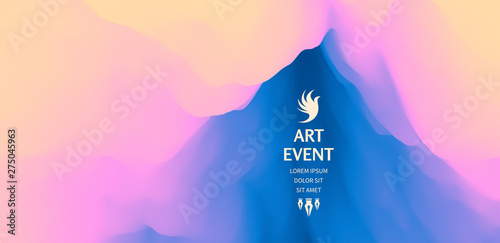 Art event invitation template Canvas Print
