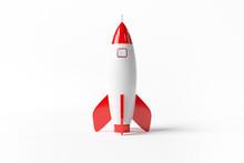 Old School Style Rocket Isolat...