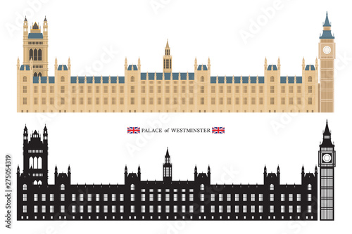 Palace of Westminster and Big Ben London, England Wallpaper Mural