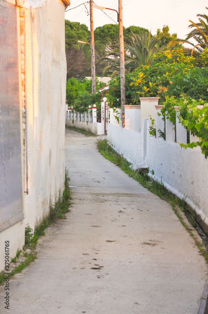 Walkway in the city