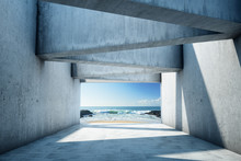 Modern Concrete Tunnel