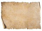 Vintage treasure map parchment isolated on white