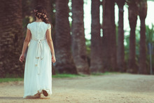 Beautiful Girl In White Dress ...