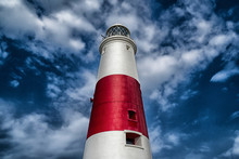 The Iconic Lighthouse At Portland Bill In Dorset