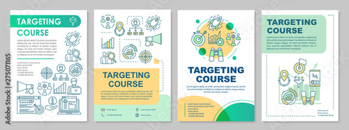Photo  Targeting course brochure template layout