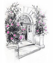 Sketch Of The Entrance To The ...
