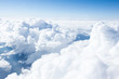 Leinwandbild Motiv Clouds and sky from airplane window view