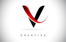 V Letter Design Logo. Letter V...