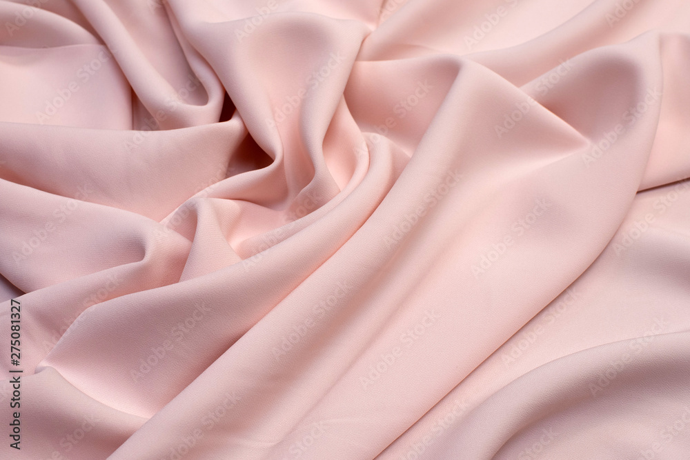 Fototapety, obrazy: Fabric viscose (rayon). Color is light pink. Texture, background, pattern.