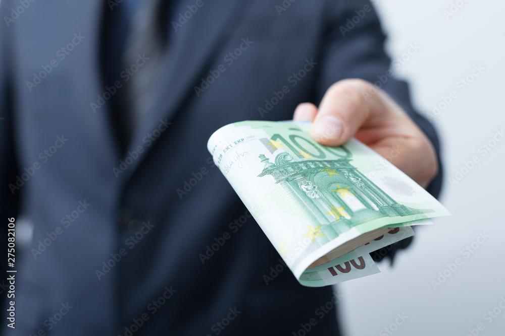 Fototapety, obrazy: Geldscheine in hand