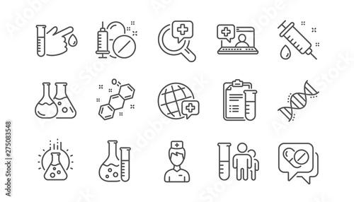 Fotografía  Medical healthcare, doctor line icons
