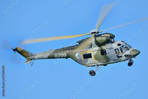 Türaufkleber Hubschrauber Sokół helicopter.