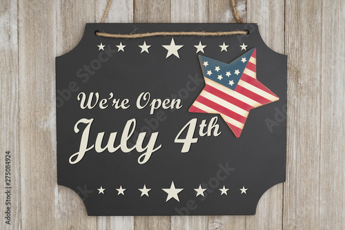 Photo Stands India We are open July 4th Independence Day message