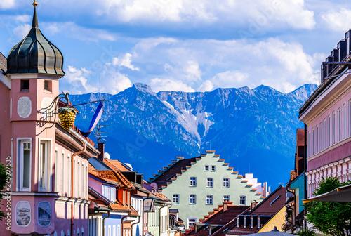 Obraz old town murnau - fototapety do salonu