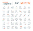 Set Vector Line Icons of Gas Industry