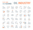 Set Vector Line Icons of Oil Industry