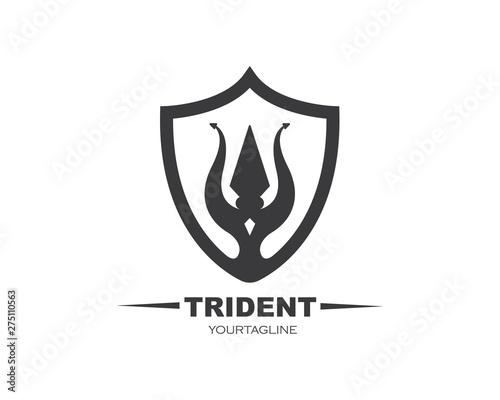 Obraz na płótnie Trident Logo Template vector icon illustration