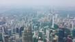 kuala lumpur city downtown cityscape sunny day aerial panorama 4k malaysia