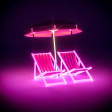 3d Render, Luxury Stripe Neon ...