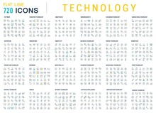 Collection Linear Icons Of Technology