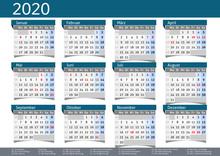 2020 Calendar Annual Planner P...