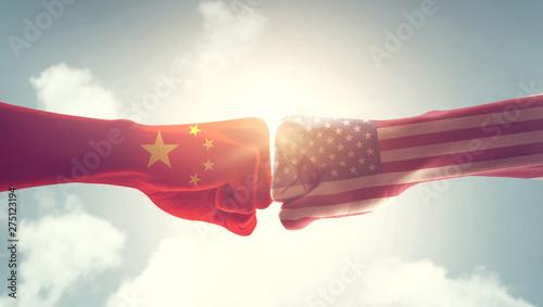 Photo Concept of trade war between USA and China
