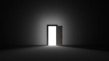 An Open Door With Bright Light...