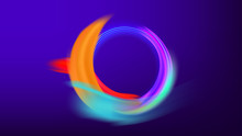 Colorful Cycle Wave Frame Vector Background