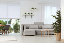 Living Room With Modern Furnit...