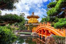 Golden Pavilion In Nan Lian Ga...