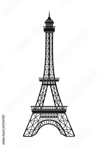 France eiffel tower design vector illustration Tapéta, Fotótapéta