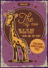 Illustration Of A Giraffe.