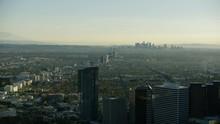 Aerial Sunrise View LA Cityscape Westfield Century City