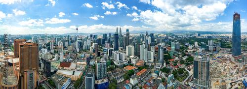 Keuken foto achterwand Kuala Lumpur Panoramic Aerial view of Kuala Lumpur, Malaysia