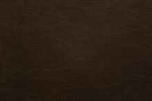 Dark Brown Faux Leather With Fine Texture.