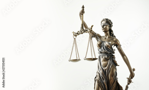 Fotomural  Themis Statue Justice Scales Law Lawyer Concept