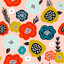 Seamless Pattern With Creative...