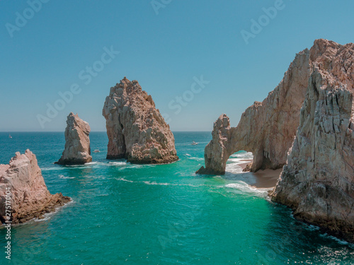 Cote Cabo San Lucas Arch with Blue Ocean and Rocks