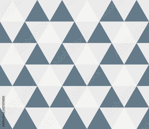 fototapeta na szkło Triangular background. Seamless geometric pattern. Seamless abstract triangle geometrical background. Infinity geometric pattern. Vector illustration.