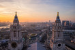 Aerial view of London from St.Paul's Cathedral, United Kingdom