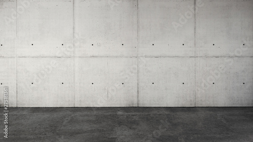 Garden Poster Concrete Wallpaper Large luxury modern bright interior with blank wall
