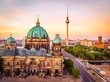 canvas print picture - Berliner dom after sunset, Berlin