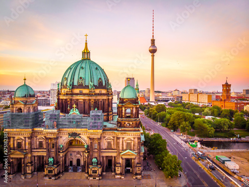 Berlin Berliner dom after sunset, Berlin