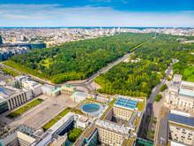 Aerial View Of Brandenburg Gate In Summer Day, Berlin