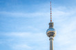 Leinwanddruck Bild Berliner Fernsehturm in summer evening, Berlin