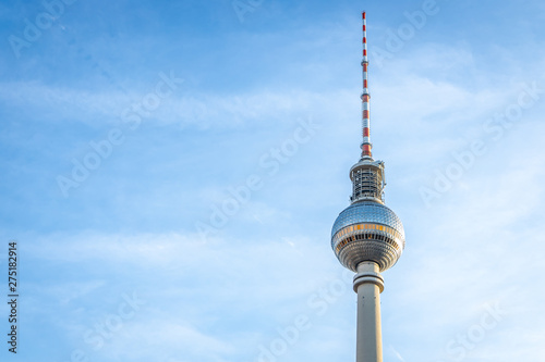 Photo  Berliner Fernsehturm in summer evening, Berlin