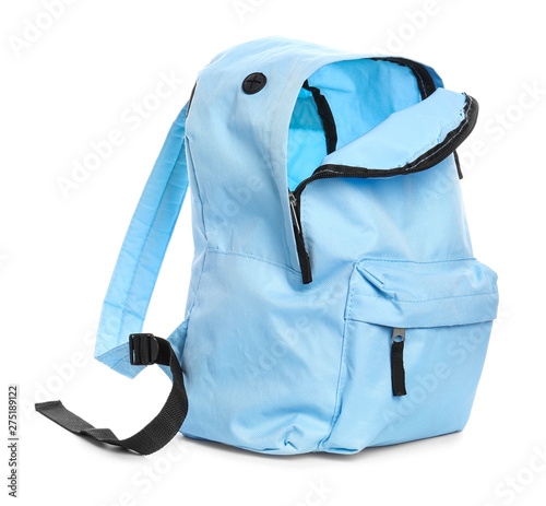 Obraz School backpack on white background - fototapety do salonu
