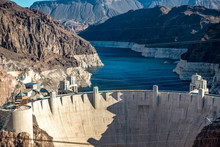 Hoover Dam On Lake Mead In Nev...