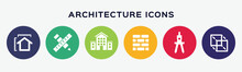 Vector Architecture Icons On W...